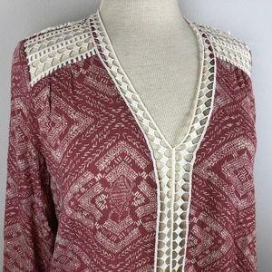 Lovestitch Long Sleeve Blouse Size S Dusty Pink